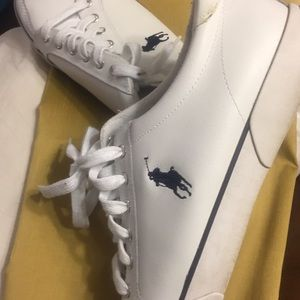 Leather tennis shoe POLO on young of shoe